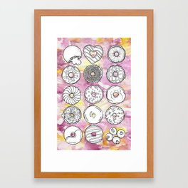 DONUTS OR DOUGHNUTS? Framed Art Print