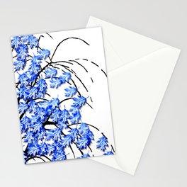 Oak Leaves Blue Stationery Cards