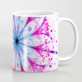 Winter Pink glittered Snowflake Coffee Mug