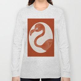 Floral Flamingo Long Sleeve T-shirt