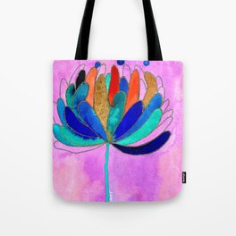 Release - Original Watercolour and Ink Painting from the Garden Tote Bag