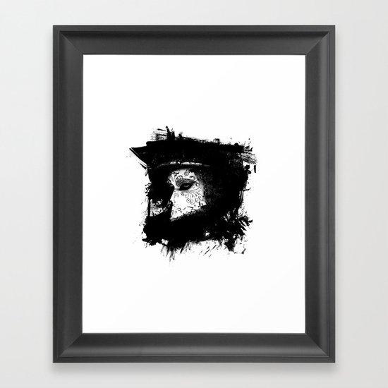 Mask Black/White Framed Art Print