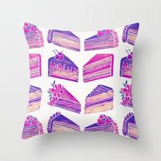 Cake Slices – Unicorn Palette Throw Pillow