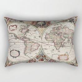 Vintage Maps Of The World Rectangular Pillow