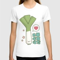 vocaloid T-shirts featuring Leeks are Awesome by Lisa Marie Robinson