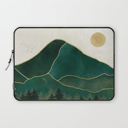 Mt Hood Emerald Mountain Abstract Laptop Sleeve