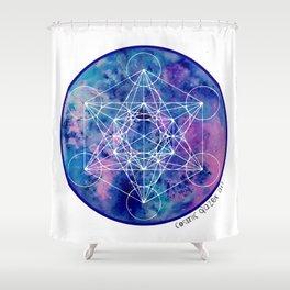 Zenetae Planet Metatron Shower Curtain