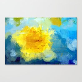 Sun And Flowers Adorn We Canvas Print