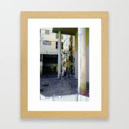 el balance siempre es delicado  Framed Art Print