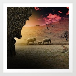 Stalking nature Art Print