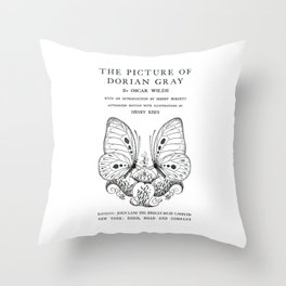The Picture of Dorian Gray Oscar Wilde Title Page Throw Pillow