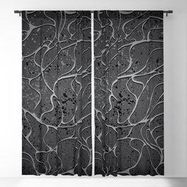Black Granit Background Blackout Curtain