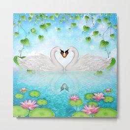 Heart of Swans #9 Metal Print