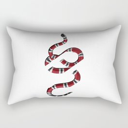 baby snake white Rectangular Pillow