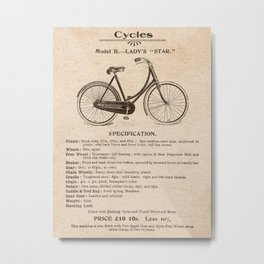 VINTAGE GOODS / Bicycles - Ladies' Bike Metal Print