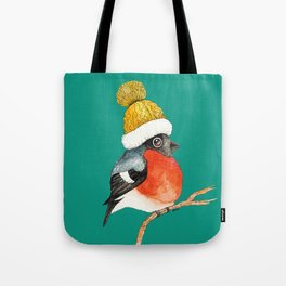 Christmas Bird Bullfinch Tote Bag