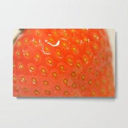 Miam Miam Strawberry Metal Print
