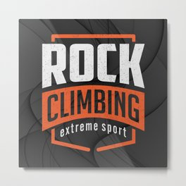 Rock Climbing Metal Print