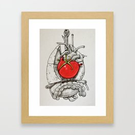 The Beat of The Tomato Framed Art Print