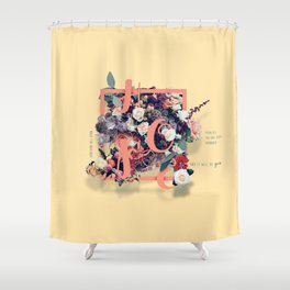 Beautiful and Modern Floral Hope Quote Print Shower Curtain