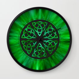 Celtic Knot Star Flower Wall Clock