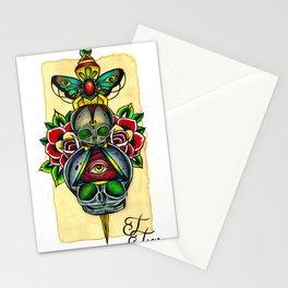 Fetal Skulls and Dagger Stationery Cards