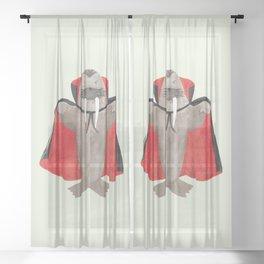 Vampire Walrus Sheer Curtain