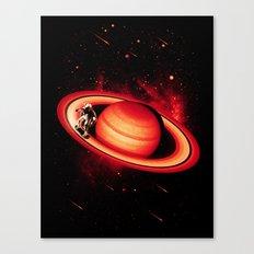 SATURN SKATING Canvas Print