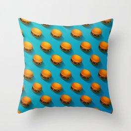 Burger Army Throw Pillow