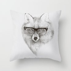 Fox Specs Throw Pillow