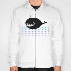 whale  (water proof piano!) Hoody