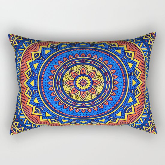 Hippie mandala 57 Rectangular Pillow