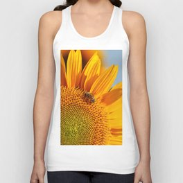 Sunflower & Bee Unisex Tank Top
