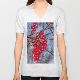 Grapes Schisandra autumn Unisex V-Neck