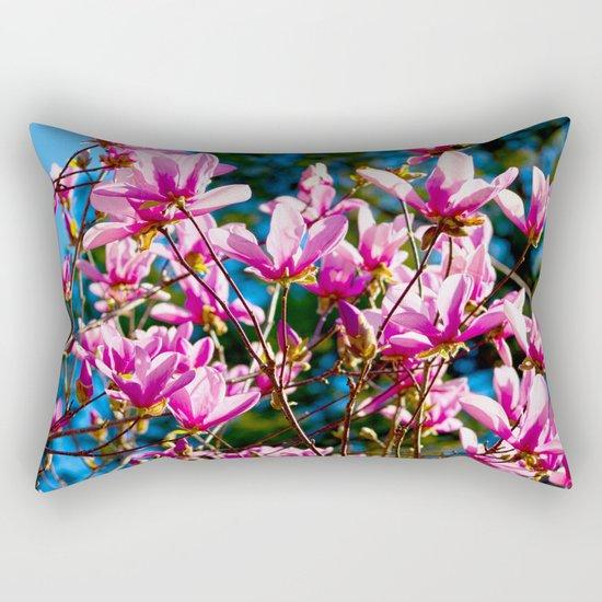 Pink Flowers In The Sun Rectangular Pillow