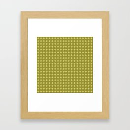 Chartreuse Diamonds Variation Framed Art Print