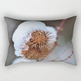 Snowy Burrs Rectangular Pillow