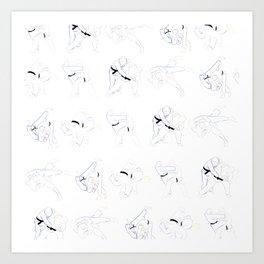 Judo Throw Pattern Art Print