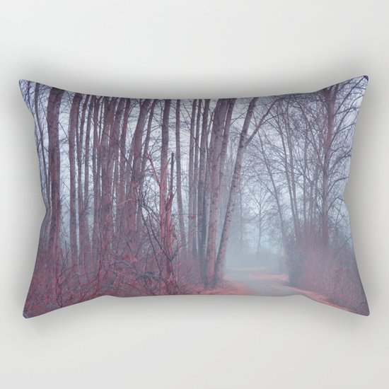 Autumn Walk Through the Park Rectangular Pillow
