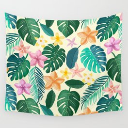 Tropical plants for botanical lovers Wall Tapestry