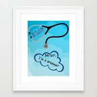 scrubs Framed Art Prints featuring Scrubs - I'm A Dreamer by Lunil