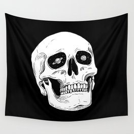 Space Skull Wall Tapestry
