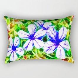 Blue Plumbago flower Rectangular Pillow
