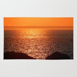 Orange Skies at Sunset Rug