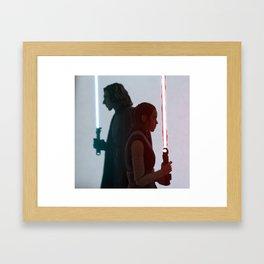 Half of the same protagonist Framed Art Print