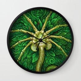 Facehugger (green) Wall Clock
