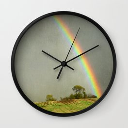 Lincolnshire Wolds Rainbow Wall Clock