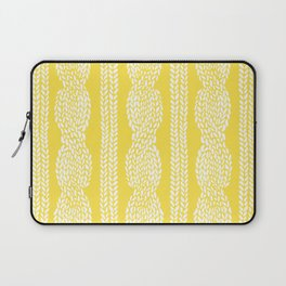 Cable Row Yellow Laptop Sleeve