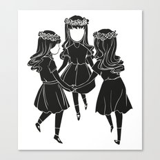 Ring-a-roses Canvas Print