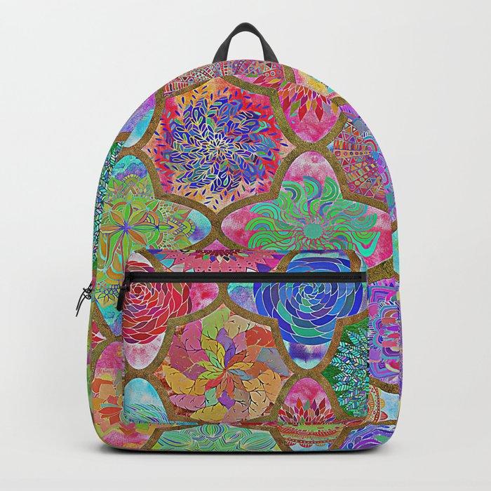 Olé México-mexican colorful mandala pattern Backpack